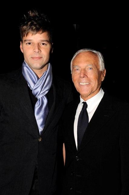 Ricky Martin und Giorgio Armani