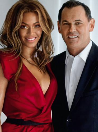 Beyoncé und Bernd Beetz, CEO Coty