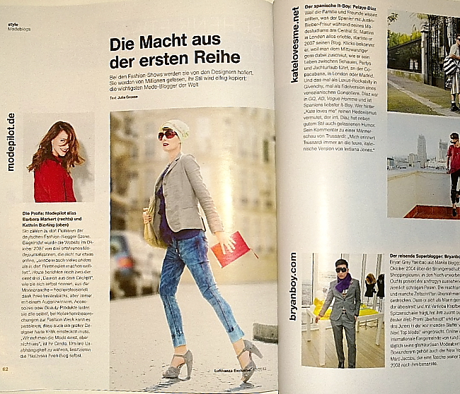 Modepilot-Lufthansa Magazin-11.2013-Artikel-beste fashionblogs weltweit