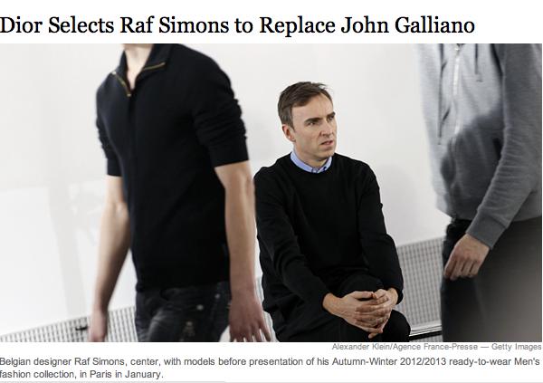 Nun doch: Raf Simons geht zu Dior