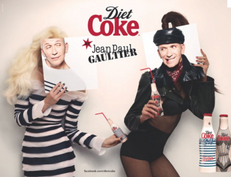 modepilot jean paul gaultier mode blog werbung coca cola lafayette modepilot. Black Bedroom Furniture Sets. Home Design Ideas