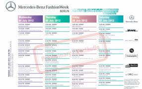 Vorläufiger Schauenplan Berlin Fashion Week