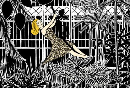 Modepilot-Le bon Marche-Jubiläum-Catherine Deneuve-Illu von  Marjane Satrapi-Mode-Blog