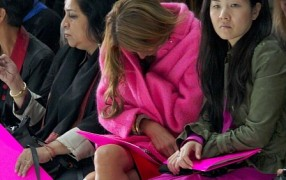 Die Fashionweek schlaucht: siehe Anna