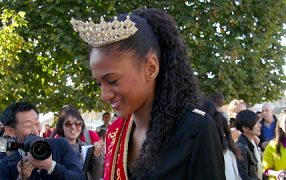 Eine Königin bei Hermès