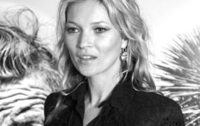 Kate Moss trägt zum Book-Launch...