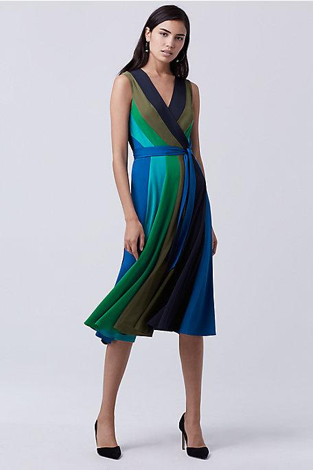 wrap dress silk diane von furstenberg