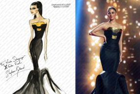 Nicole Scherzinger in SteÃÅphane Rolland Haute Couture (wm)