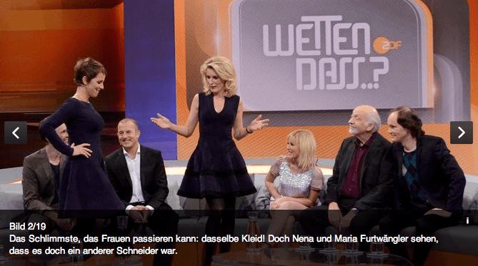 Wetten, dass Maria Furtwängler Nena Alaia Modepilot