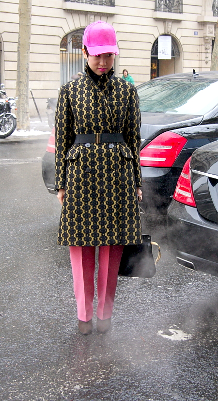 Modepilot-Streetstyle- pinke Kappe-Mode-Blog-Paris-Fashionweek-Menswear