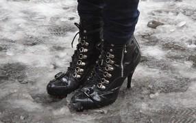Streetstyle: Schuhe im Schnee