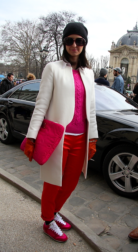 Modepilot-Streetstyle-Pink zu Rot-Barbara Markert-Mode-Blog-Paris-Fashionweek
