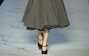 Paris Trend: wadenlange Röcke