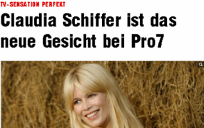 Claudia Schiffer als Fashion-TV-Fee?