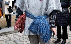 Streetstyle: Schal als Gürtel