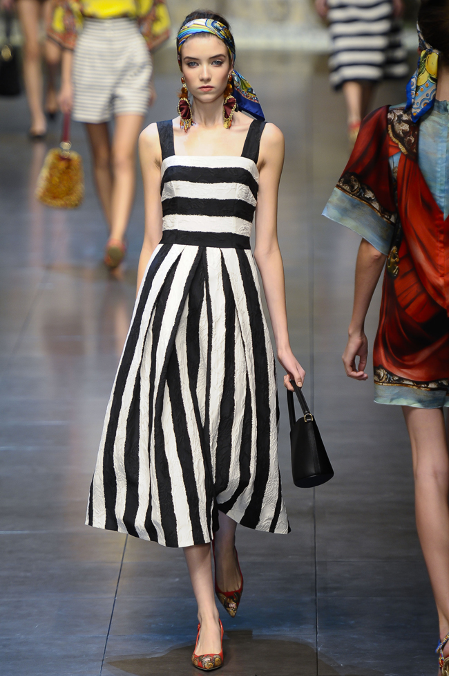 Modepilot-Trend-Streifen-Fashionweek-Paris-Mode-Blog-Dolce & Gabbana
