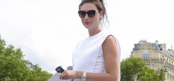 Streetstyle: weißes Sommerkleid