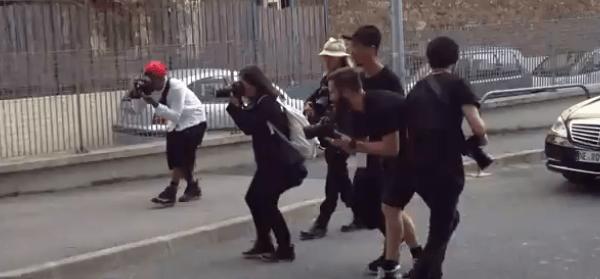 Spalierlauf entlang der Streetstyle-Photographen