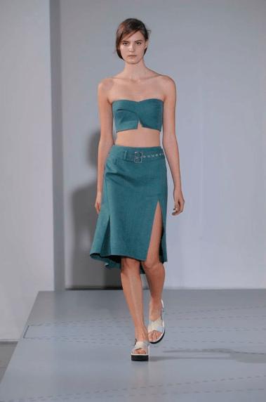 Jil Sander Blaugrün Sommer 2014 Modepilot