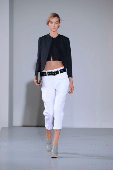 Jil Sander bauchfrei Sommer 2014 Modepilot