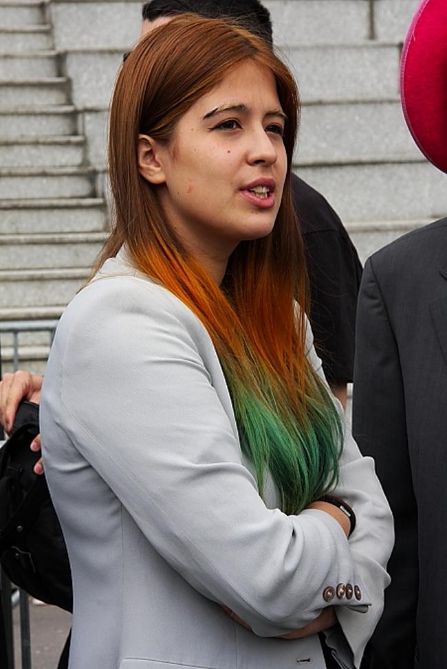 Dip Dye Haare 2 grün
