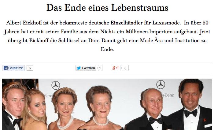 Eickhoff Ende Dior Modepilot
