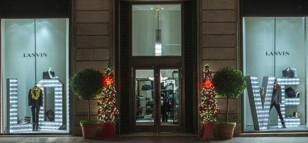 Weihnachtsfenster Lanvin Paris