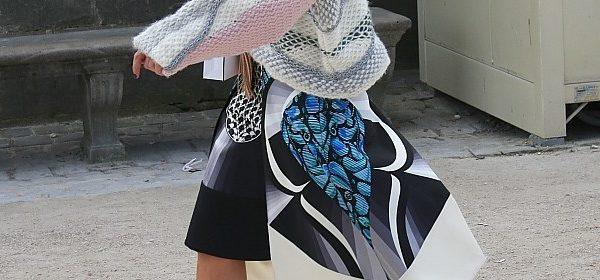 Streetstyle zu den Tulpen-Blumen-Origami-Röcken