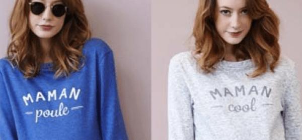 Trend Parolen-Sweater für Schwangere