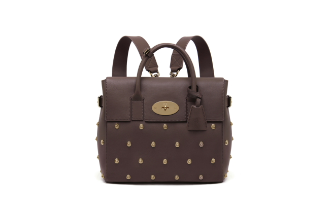 Mulberry Cara Delevingne Bag in Taupe with Lion Rivets