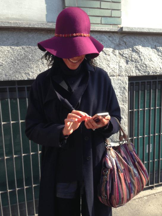 Purple hat Armani Modepilot