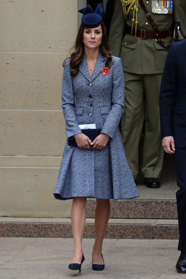 The Duke and Duchess of Cambridge attend the ANZAC March