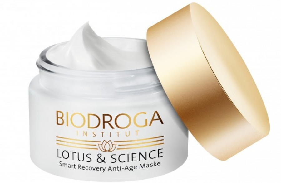 BIODROGA_Lotus & Science Smart Recovery Anti-Age Maske Tiegel offen