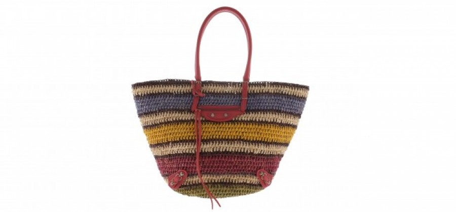 Balenciaga Straw Bag Multicolored_439 Euro a