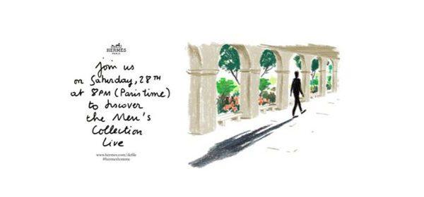 Schaut mit uns um 20.00 Uhr das Hermès Défilé live!