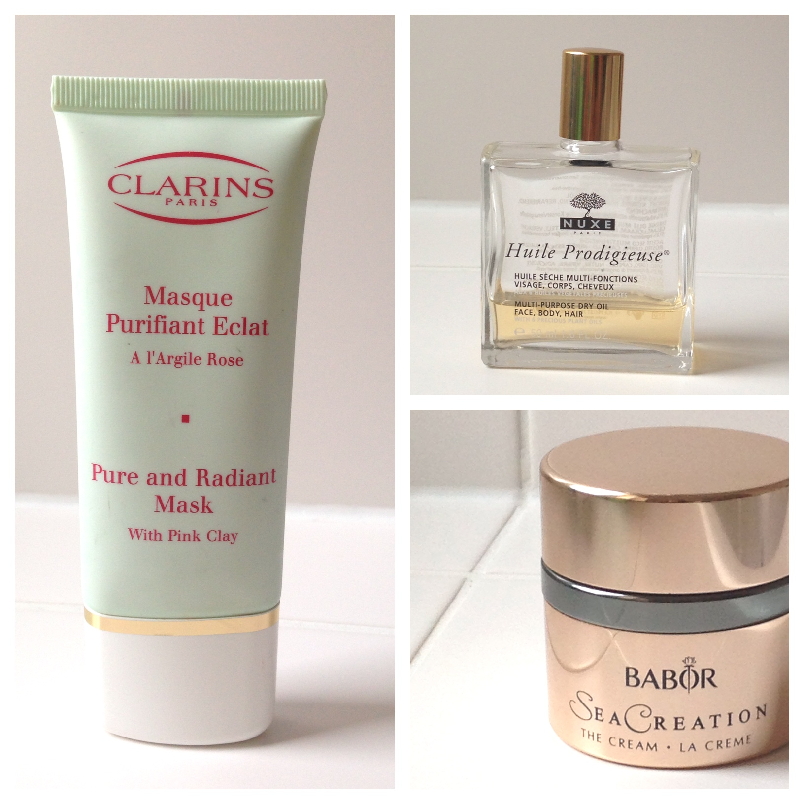 Clarins Gesichtsmaske Babor Sea Creation Nuxe Öl