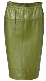 grüner Lederrock