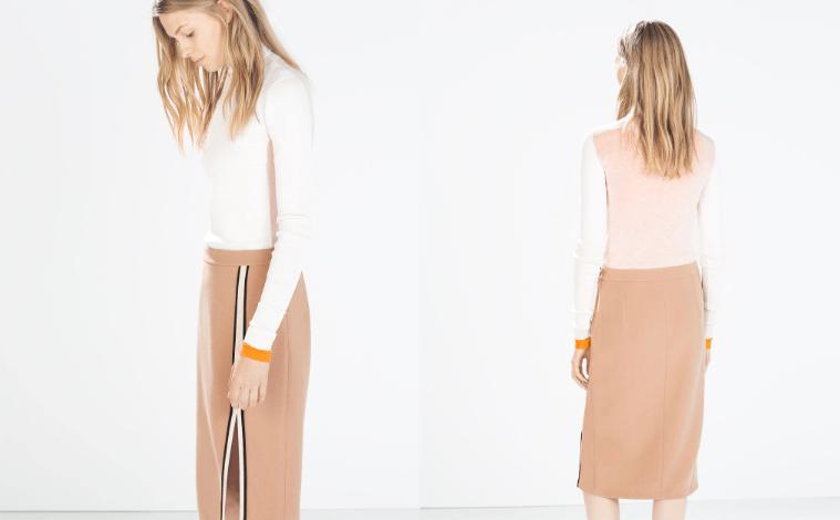 Cremefarbener Rollkragenpullover Zara Modepilot