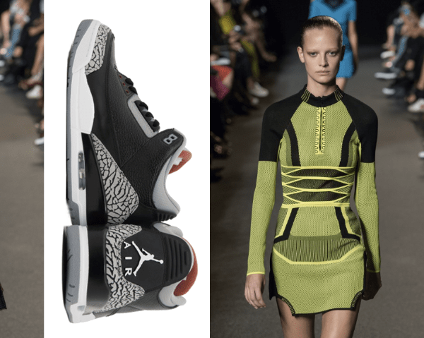 Sneaker dresses by Alexander Wang 2015