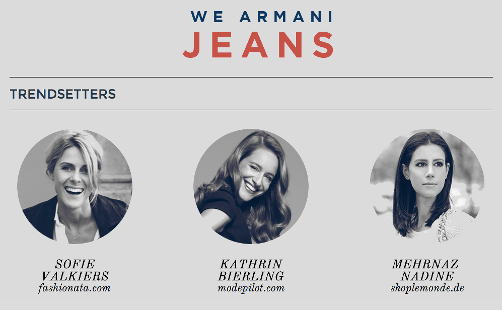 Blogger Armani we Jeans Modepilot