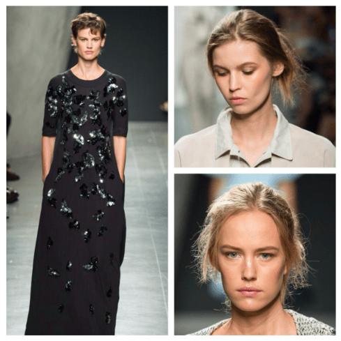 Saskia de Brauw Frisur Bottega Veneta Summer 2015 hair Modepilot