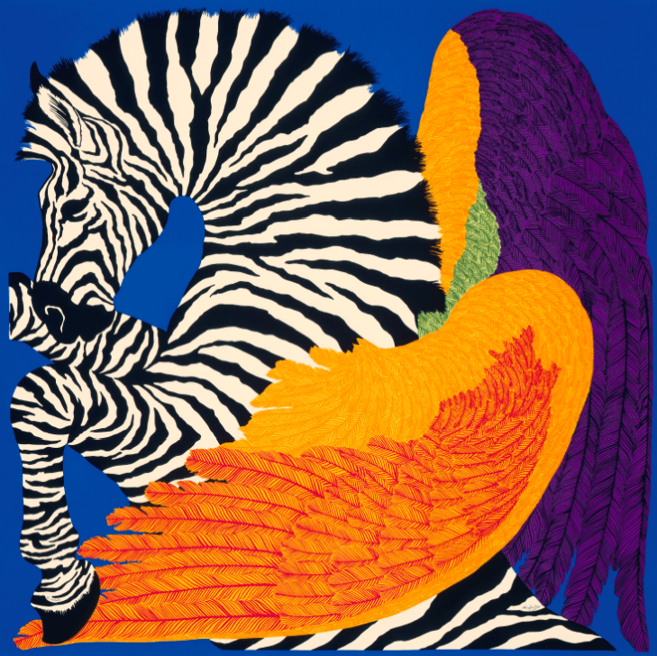 Hermès Carré Zebra Pegasus Modepilot