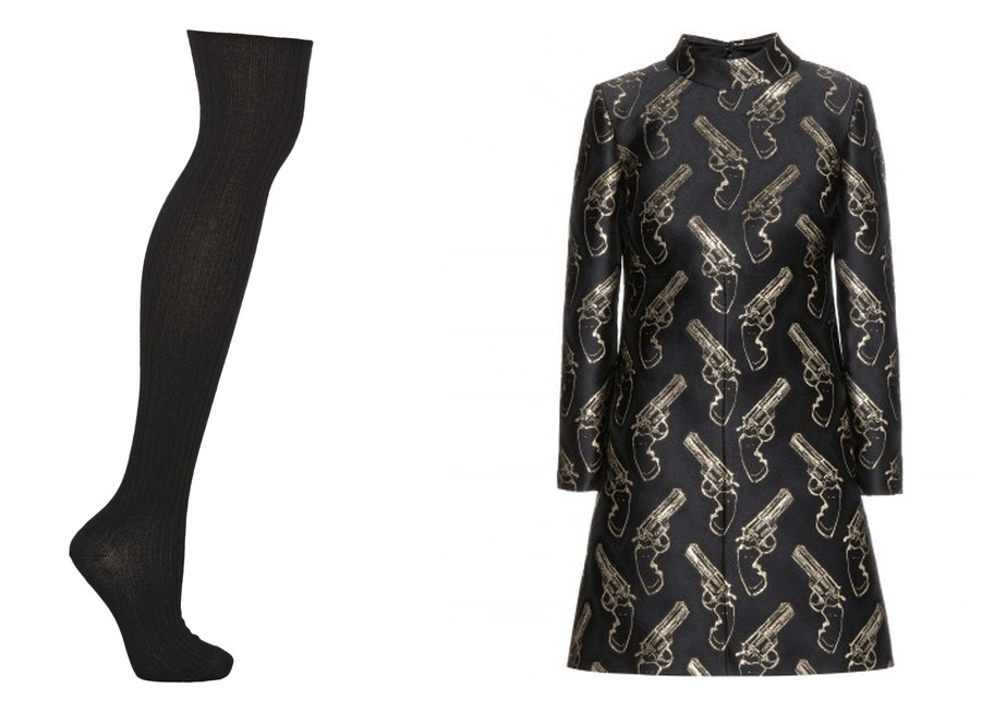 Overknee Strümpfe Net-a-porter dress Saint Laurent pistols Mini dress Mytheresa silk Seide Modepilot