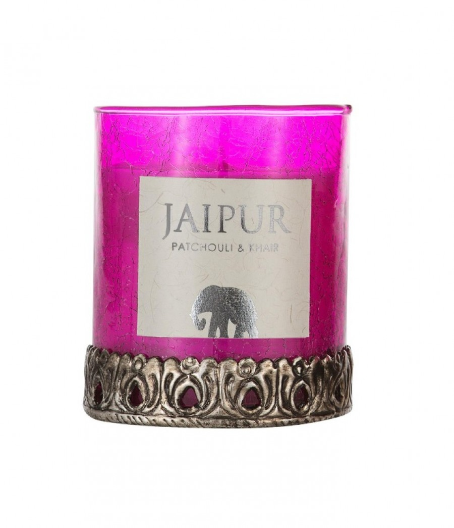 Scent of India candle - Jaipur L_patchouli and khair_INDISKA
