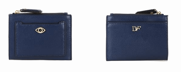 Diane von Furstenberg Fortune Card holder blue leather Modepilot