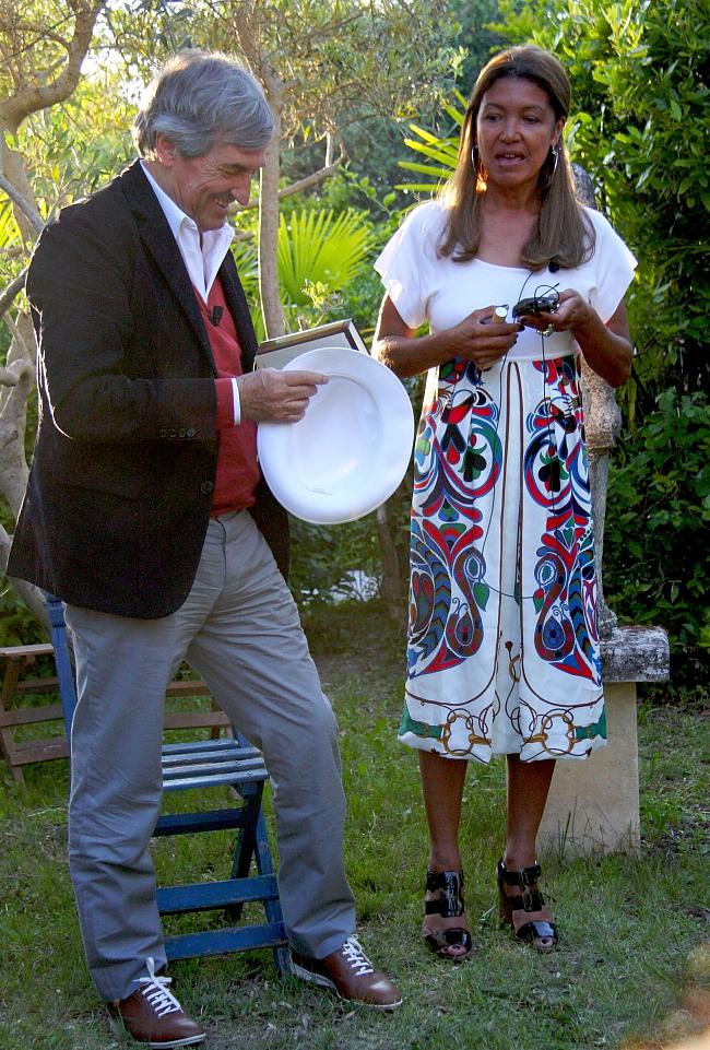 Jean-Claude Ellena mit Catherine Fulconis, Präsident von Hermès Parfums