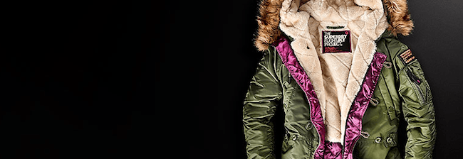 Superdry jacket fur green Modepilot
