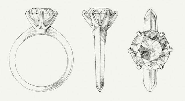 Tiffany & Co. Krappenfassung Brillant Modepilot Verlobung