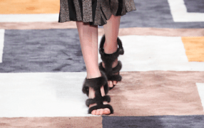 Salvatore Ferragamo fur sandals Modepilot 2015