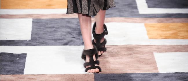Salvatore Ferragamo fur sandals Modepilot 2015